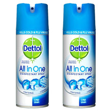 Dettol All In One Disinfectant Spray 400ml - Crisp Linen - Kills Bacteria Germs