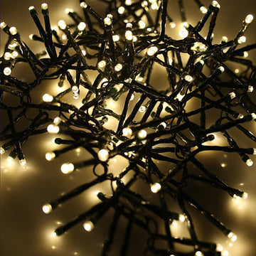 AMOS 192 LED Battery Operated 2.5m Cluster Fairy Lights Indoor Outdoor Christmas Tree