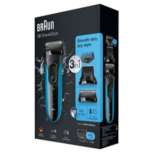 Braun S3 3010BT Shave & Style 3 In 1 Wet Dry Electric Shaver Trimmer 5 Combs