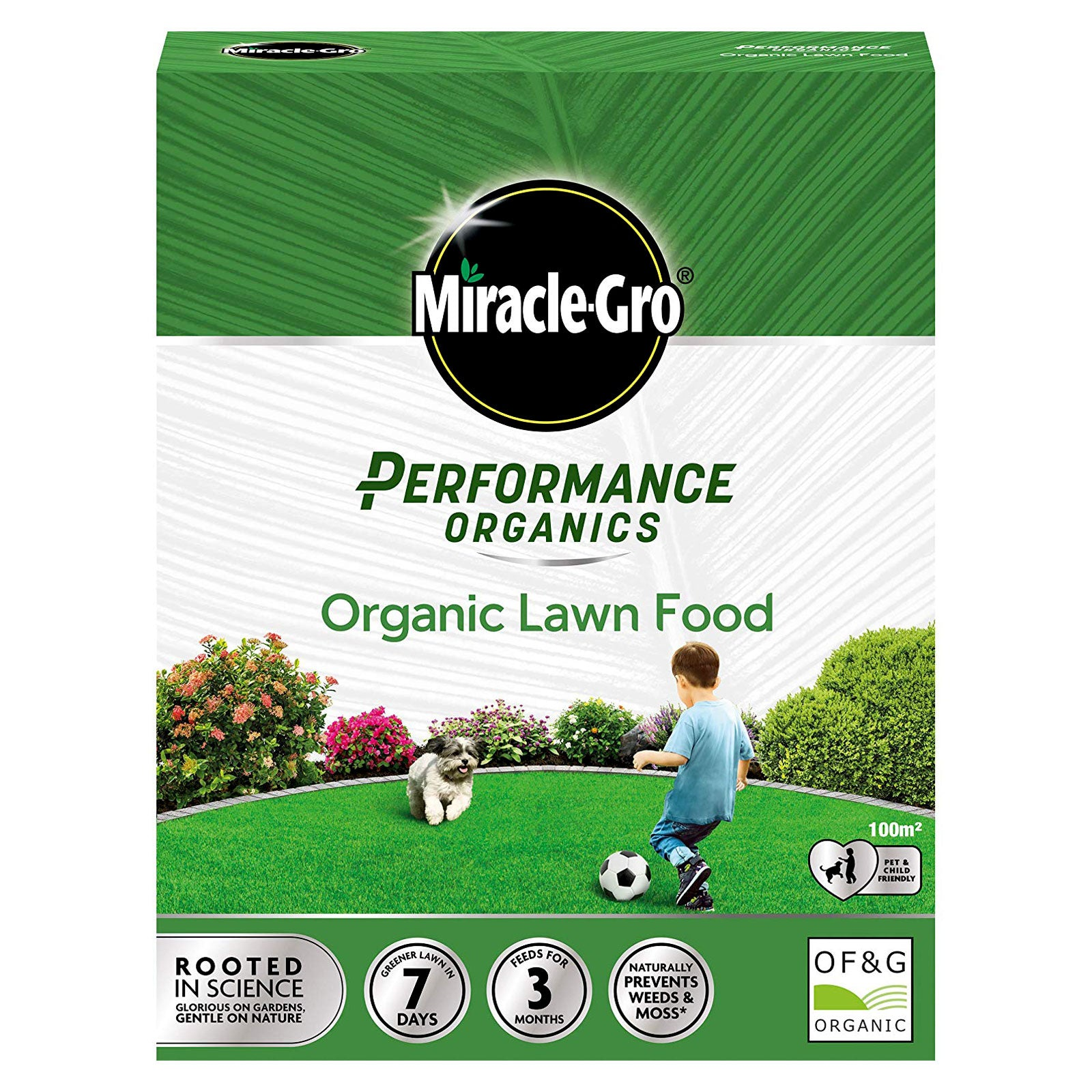 Miracle Gro Performance Organics Lawn Food 2.5kg Covers ...