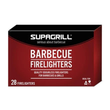 28x Supagrill Barbecue Grill Firelighters Odourless BBQ Lumpwood Camping Fuel