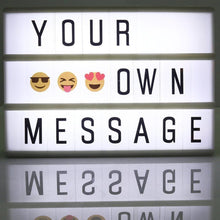 Cinematic Lightbox LED A4 Box DIY Message Lamp 90 Letters Numbers Emoji Symbols