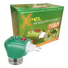 Xpel Mosquito & Insect Relief Repellent Travel 2 Pin Plug In Diffuser 45 Days Natural Oils