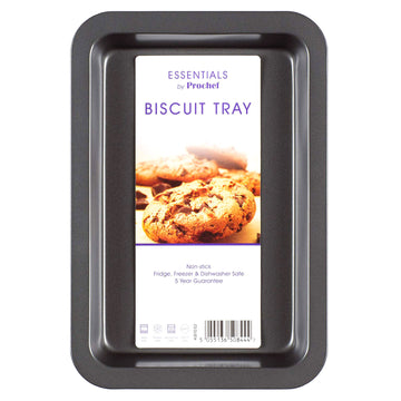 Essentials by Prochef Biscuit Tray 32.3 x 21.7 x 3.4 cm Non-Stick Baking Oven