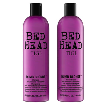 Bed Head TIGI Dumb Blonde 2 Pack Shampoo And Reconstructor Conditioner 750ml