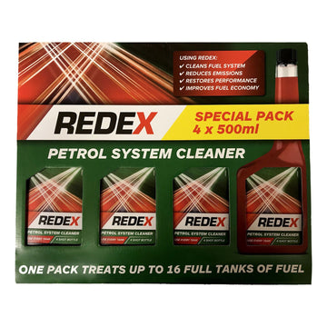Redex Petrol System Cleaner 4 x 500ml Fuel Emissions Performance Treatment