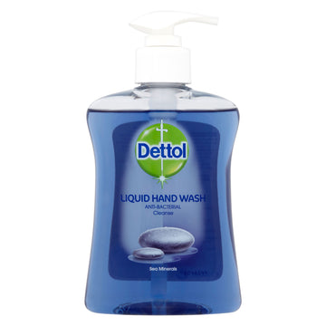 Dettol Liquid Anti-Bacterial Liquid Hand Wash Cleanse 250ml - Sea Minerals