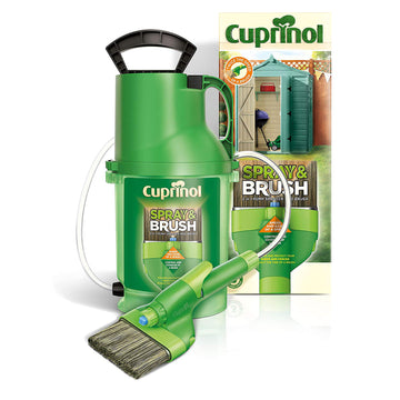 Cuprinol Spray & Brush 2 In 1 Pump Sprayer and Brush Paint Sheds Fences