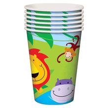 Fun Machine Jungle Party Paper Cups 9oz 8 Pack Birthday Celebration Animal Theme