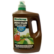 Maxicrop Moss Killer & Lawn Tonic 2.5L with Natural Seaweed Base Treats 166m2 Amateur Lawn Feed Treatment