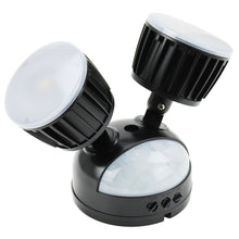 NightWatcher Twin Outdoor Security LED Light PIR Motion Sensor Activated Black
