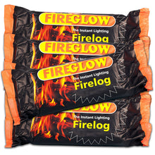 Fireglow The Instant Lighting Firelog 800g - Pack of 15 - Chimney Fuel Fire Logs Burns 90 Minutes