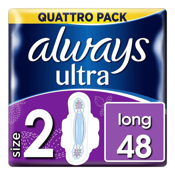 Always Ultra Long Size 2 48 Pads Pack Absorbent Flex Fit System Comfortable