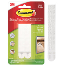 3M Command Narrow Picture Hanging Strips Picture Frame Damage Free 4 Pair 17207