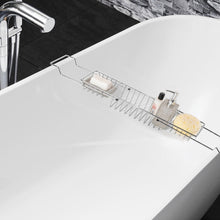 Sabichi Extendable Bath Tub Rack Caddy Chrome Plated Bathroom Storage