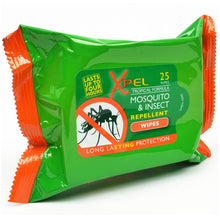 Xpel Mosquito & Insect Repellent 25 Wipes Tropical Formula Lasting Protection