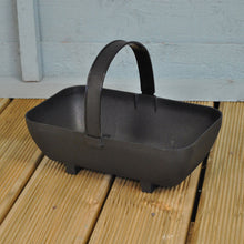 Garland Small Trug Planter Basket Black Recycled Plastic Indoor Outdoor Pot
