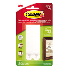 3M Command Large Picture Hanging Adhesive Tape Strips 17206 Damage Free 4 Pairs