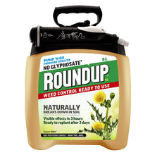Roundup NL Natural Pump 'N Go Weed Control Ready To Use Weedkiller Pressure Sprayer 5L