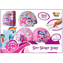 My Little Pony Soft Secret Diary Cushion Speaker MP3 Line In Notebook Lock + Key