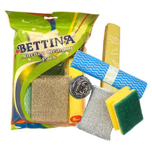 Bettina 8pcs Kitchen Cleaning Pack Sponge Scourers Cloths Washing Up Pads