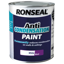 Ronseal 750ml Anti-Condensation Paint Prevent Wall Ceiling Mould - White Matt