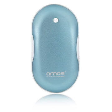 AMOS Hand Warmer Rechargeable Portable 5200mAh USB Power Bank Phone Charger LED