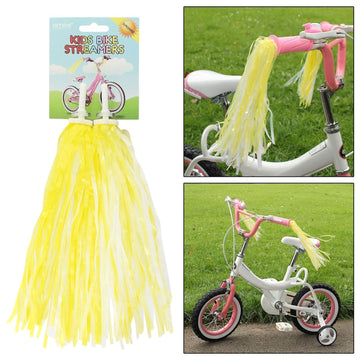 AMOS Bicycle Bike Streamers Tricycle Kids Girls Handlebar Grips Tassels 2 Pack