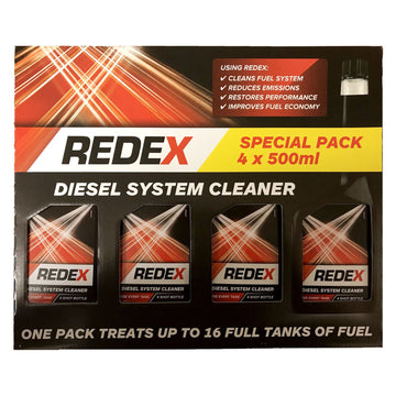 Redex Diesel System Cleaner 4 x 500ml Fuel Emissions Performance Treatment