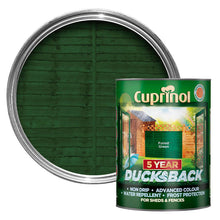 Cuprinol Ducksback 5L Paint 5 Year Waterproof Wood Fence Stain Various Colours