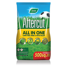 Aftercut All In One Lawn Feed, Weed and Moss Killer 500sqm Bag Fertiliser
