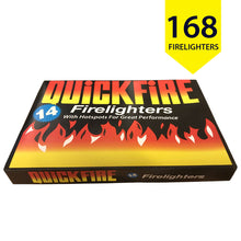 Quickfire Firelighters With Hotspots Smokeless Burners Fire Fuel Long Burning