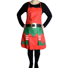 Theme Machine Elf Apron Christmas Day Red Green Fancy Dress Chef Cook