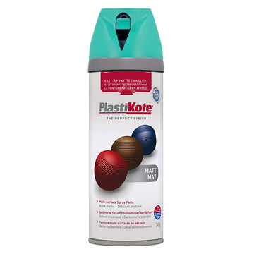 PlastiKote Twist & Spray Paint 400ml - Matt Premium Multi-Surface Aerosol