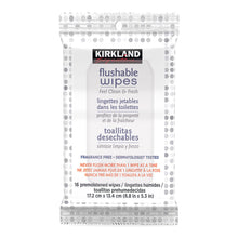 Kirkland Signature 632 Moist Flushable Wipes Fresh Ultra Soft Cleansing Toilet - 10 x 60 Wipes / 2 x 16 Travel Wipes
