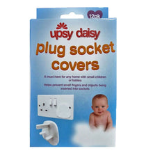 Upsy Daisy 3 Pin Plug Socket Covers - 12 Pack Child Baby Proof Protector