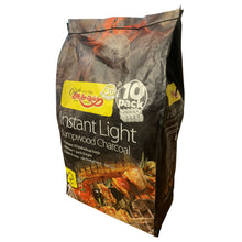 Bar-Be-Quick Instant Light Lumpwood Charcoal 10 Pack Bags Barbecue Fire