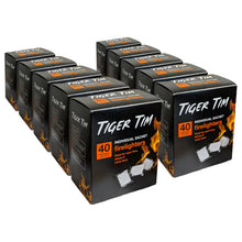 Tiger Tim 40 Sachet Firelighters Quick Eco Barbecue Wood Burner Open Fire Starter