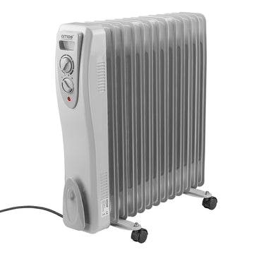 AMOS 13 Fin 3000W Oil Filled Radiator 3 Setting Thermostat Home Office Heater