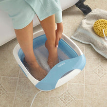 HoMedics Foldaway Luxury Foot Spa with Heat Bubble Bath Feet Massage Pedicure