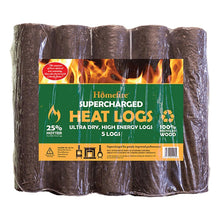 Homefire Supercharged Heat Logs Ultra Dry High Energy Ready to Burn - 5 Logs