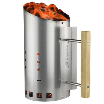 AMOS Barbecue BBQ Charcoal Chimney Starter Grill Steel Rapid Quick Fire Lighter