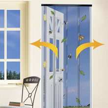 STV STV321 The Buzz Doorway Insect Curtain Charcoal Easy Access Door Panels