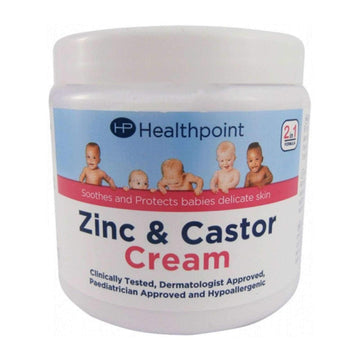 Healthpoint Zinc & Castor Cream 225g Kind To Sensitive Skin Baby Nappy Soothing