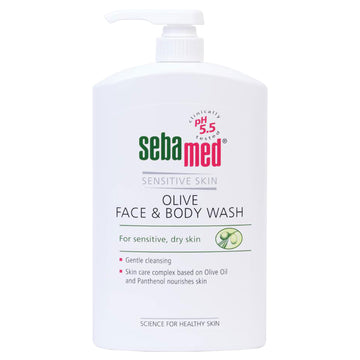 Sebamed Olive Face & Body Wash 1000ml Sensitive Dry Skin Gentle Cleansing 5.5 pH