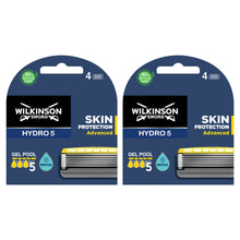 Wilkinson Sword Hydro 5 Skin Protection Advanced Mens Shaving Razor + 9 Blades