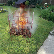 Garland Easy To Assemble Folding Red Wire Garden Incinerator Waste Fire