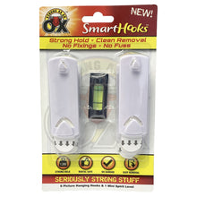 Strong As An Ox Smart Hooks - 6 Picture Hanging Hooks & Mini Spirit Level Wall Adhesive