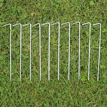 AMOS 10 x Heavy Duty Steel Tent Pegs Camping Awning Metal Ground Stakes Hooks