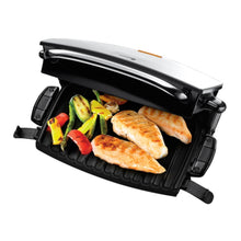 George Foreman Fat Reducing Grill 14525 4 Portion Melt Removable Plates